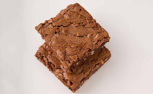Double chocolate almond brownies