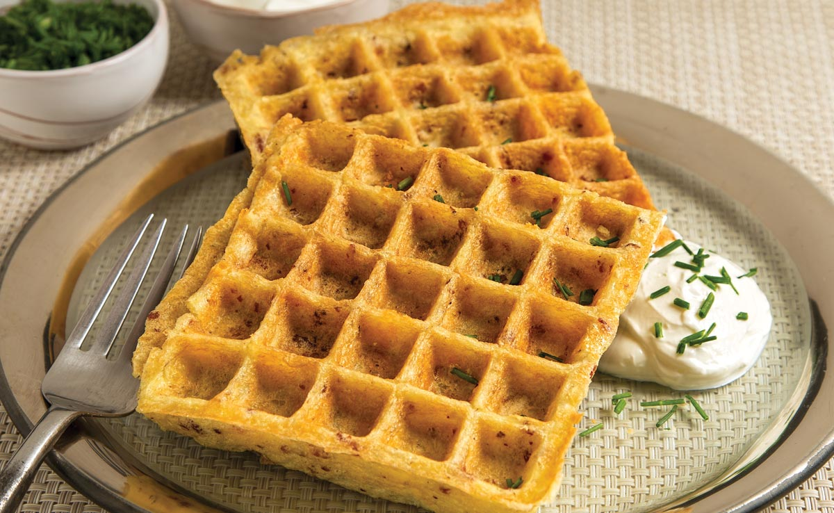 Irish Potato Cheese Waffles