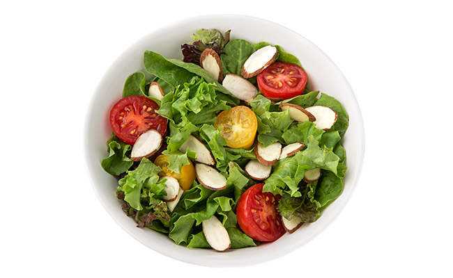 Almond and Tomato Salad with Balsamic Vinaigrette
