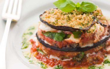 Almond eggplant Parmesan