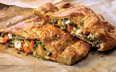 Enjoy Summer's Bounty with this Recipe for Pesto Vegetable Calzone
