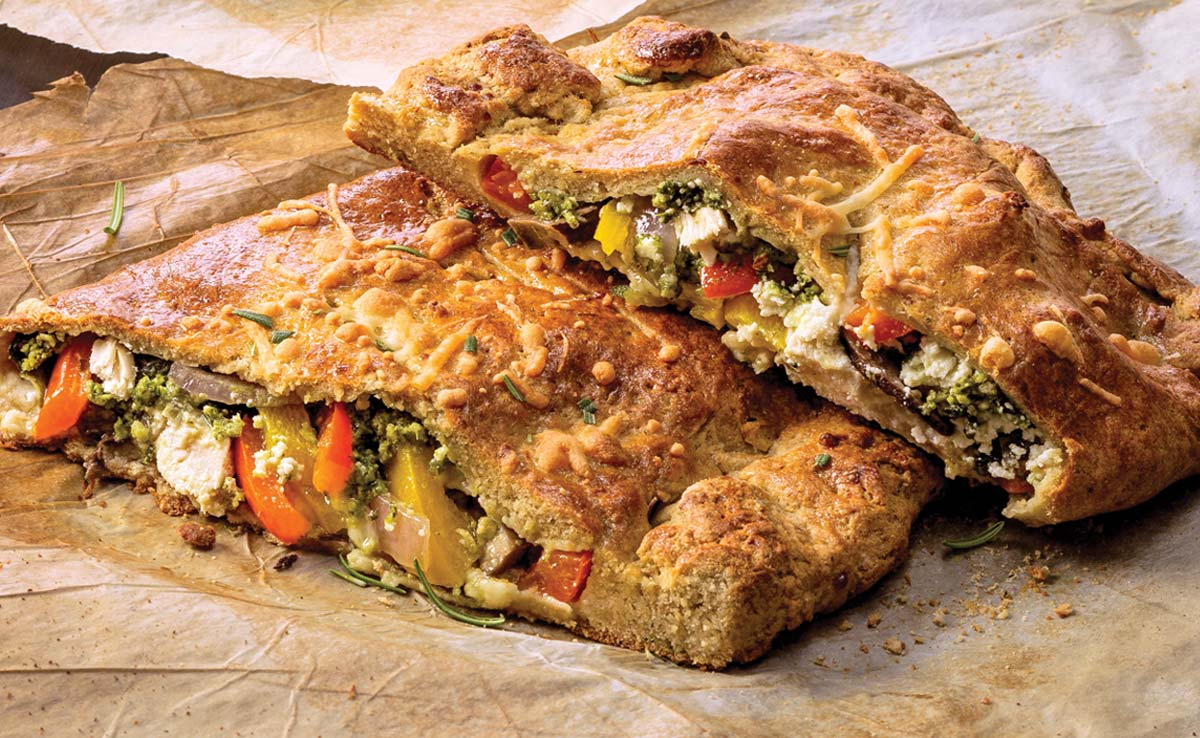 Pesto Vegetable Calzone