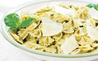 Almond Flour Pesto Farfalle