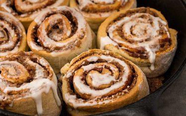 Blue Diamond's gluten-free cinnamon rolls