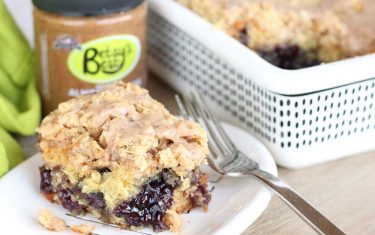 Betsy's Best Gluten-Free Blueberry & Almond Cobbler Cake