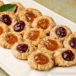 Blue Diamond almond thumbprint cookies